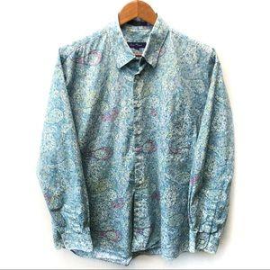 Alan Flusser paisley long sleeve button up shirt